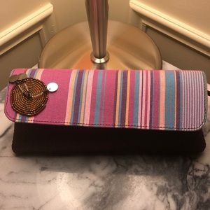 Hand made African styled clutch bag.